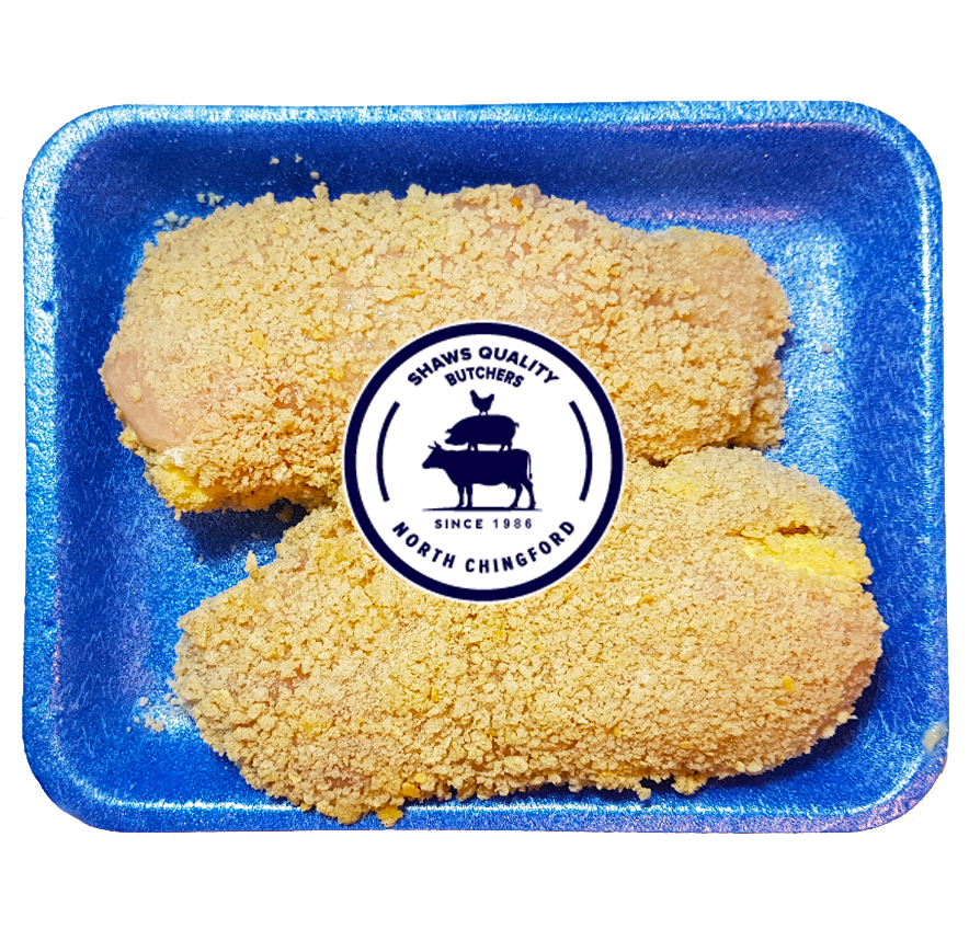 Fresh Homemade Chicken Kievs on Panko Breadcrumbs