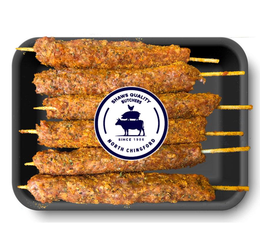 Fresh minted lamb Kofta kebabs