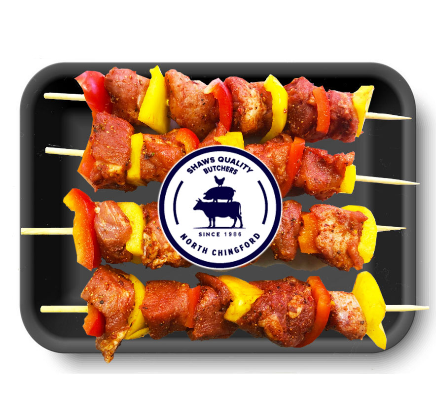 Pork Kebabs with Peppers